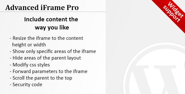advanced-iframe-pro