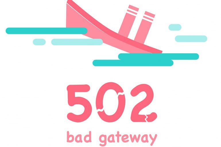 erro 502 bad gateway
